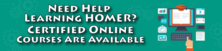 Need Help Learning HOMER? - Certified Online Courses are Available
