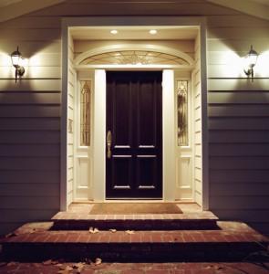 Elegant front door to a home