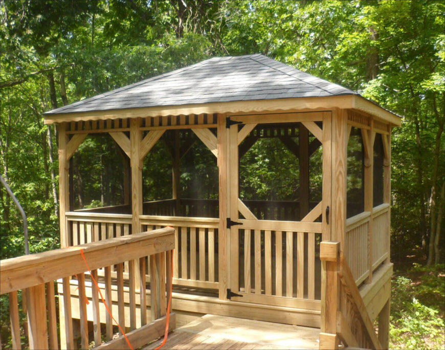 110 gazebo designs ideas wood vinyl octagon rectangle and more - Build rectangular gazebo guide models ...