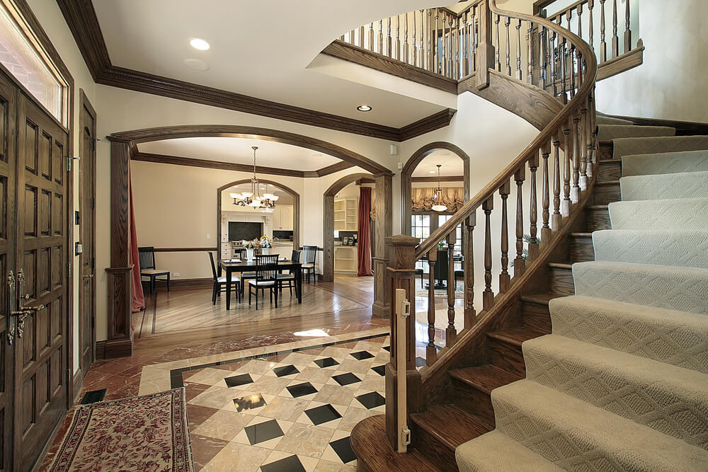 Foyer Stairs Meaning : Foyer design ideas for all colors styles and sizes