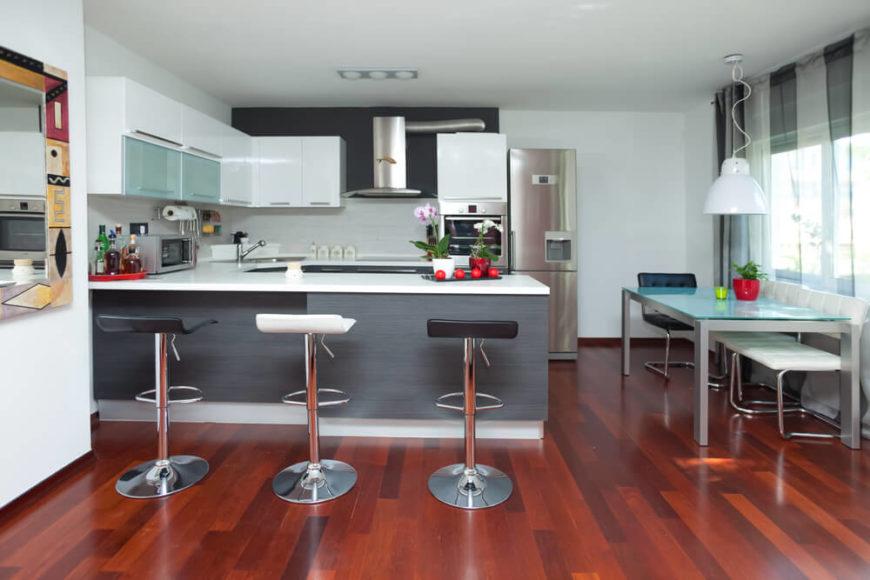 Кухня интерьер дизайн 25 квм