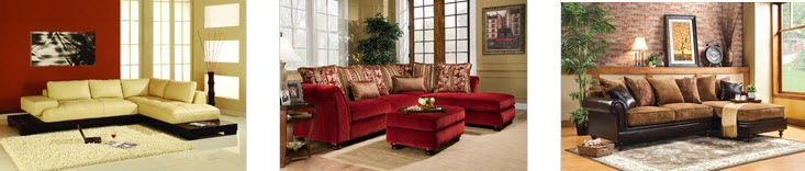 Pillow Back Sectional Sofas
