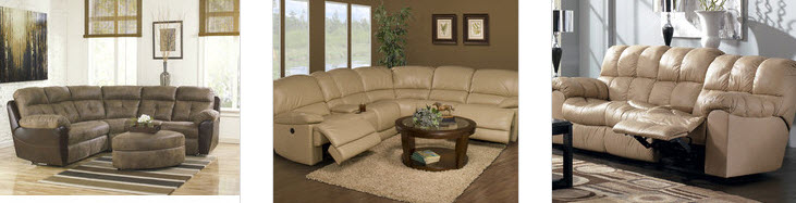 Pillow Topped Arms Sectional Sofas