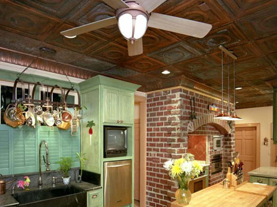 Tin kitchen ceiling tiles