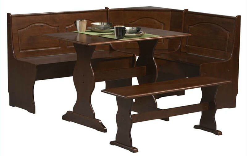 Wood Breakfast Nook Furniture ~ Space saving corner breakfast nook furniture sets booths