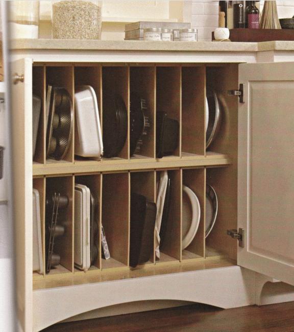 Vertical Baking Pan Storage