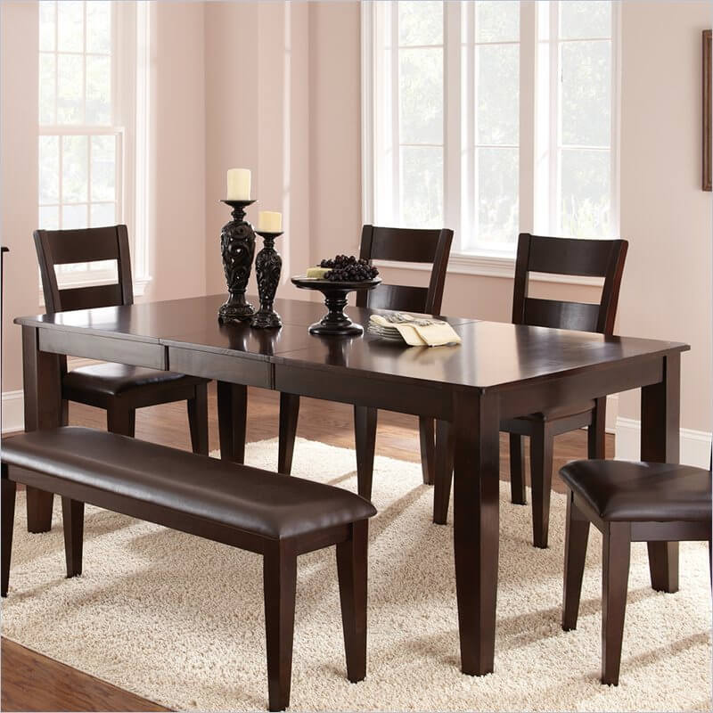 Wood Rectangle Dining Tables That Seats Under - Wood dining tables with leaves