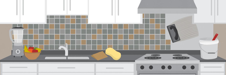 Tile a kitchen backsplash