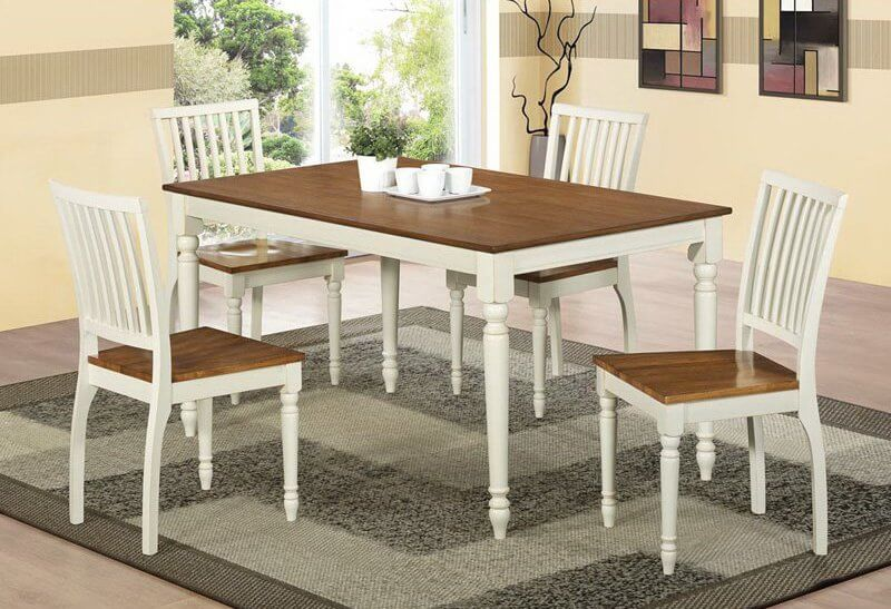 here we have another dining room table this model features white painted