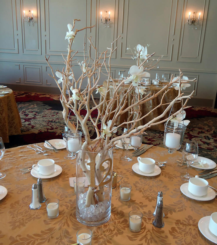 Decorative Glass Table Centres