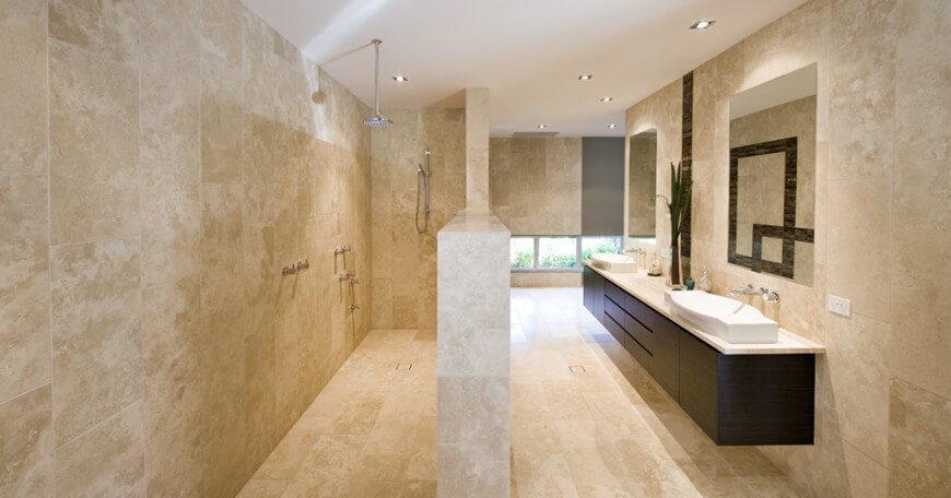 White marble bathrooms
