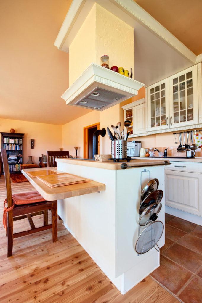 hereu0027s a unique openplan design a slim kitchen and large living room