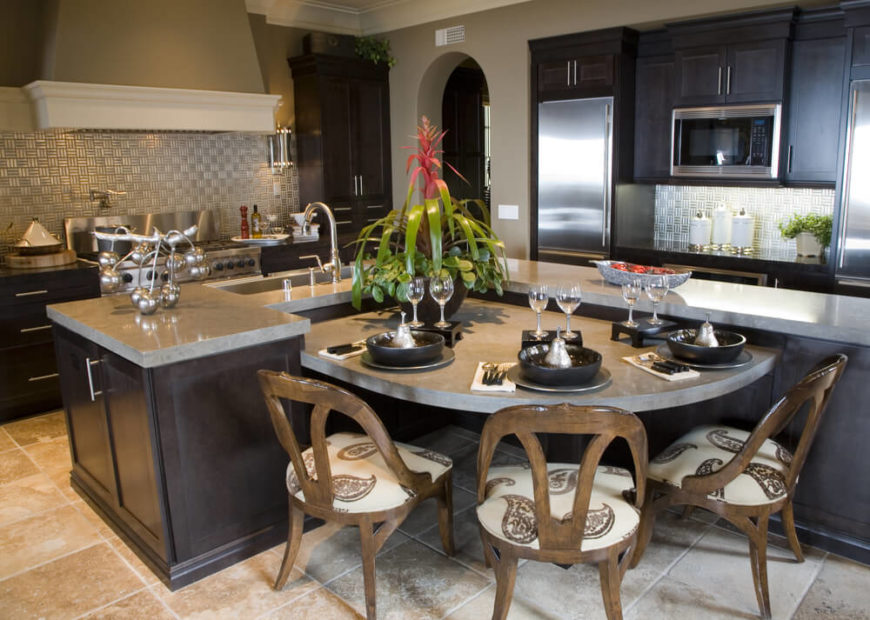 This Subtly Bespoke Kitchen Features A Standout L Shaped Island In Dark  Stained Wood, Part 13