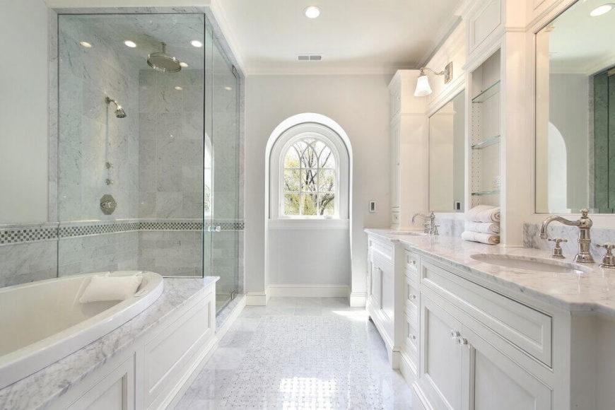 20 Elegant Bathrooms With Corner Showers Designs Master Bathroom N