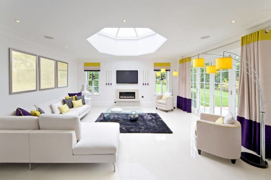 The Accent Colors Are Used A Little More Subtly In This Living Room, Which  Features