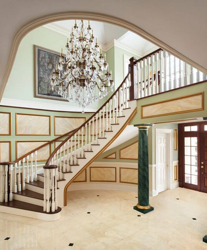 Elegant Foyer Ideas : Elegant foyers with spectacular chandeliers images
