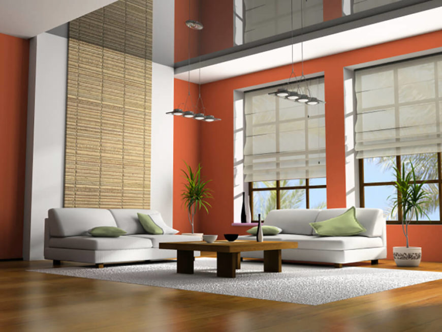 This Living Room Is Quite Simple, Yet Still Very Spacious. Hints Of Eastern  Design