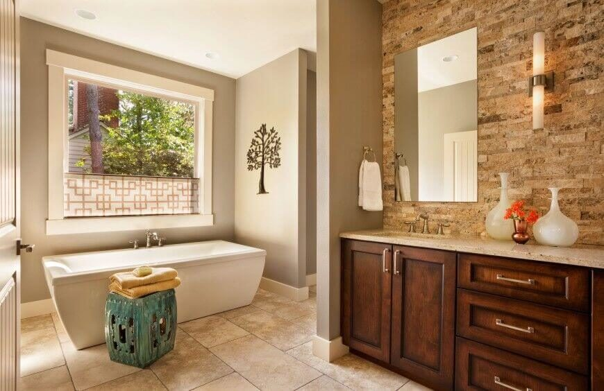 Bathroom Privacy Window 40 master bathroom window ideas