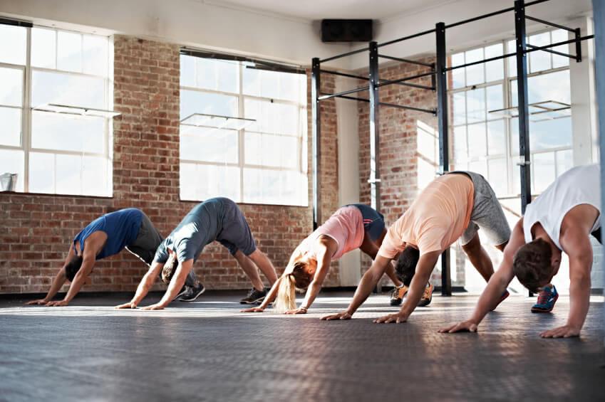 s yoga studio class