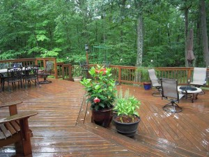 Picture of 2-Level Wood Deck