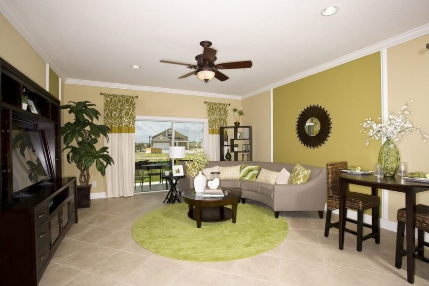 This Room Uses A Number Of Different Shades And Hues Of Green To Create A  Great Part 54