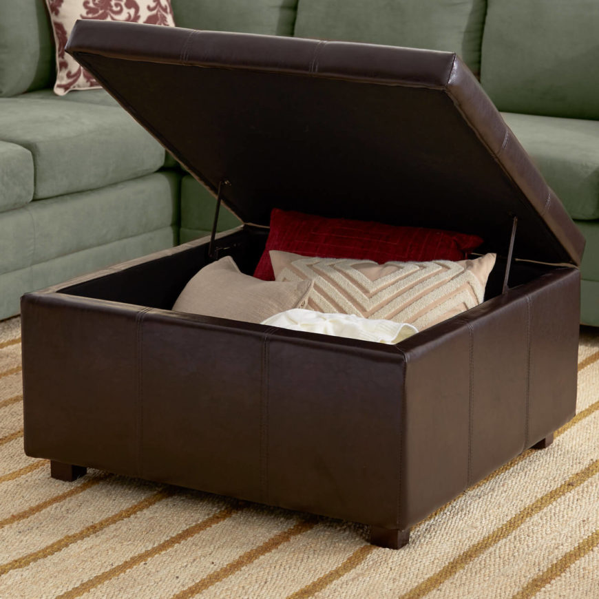 This Open Ottoman Shows The Storage That Can Be Inside A Utility  Furnishing. Store Pillows Part 41