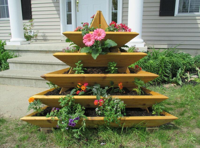 Как сделать деревянные цветочницы