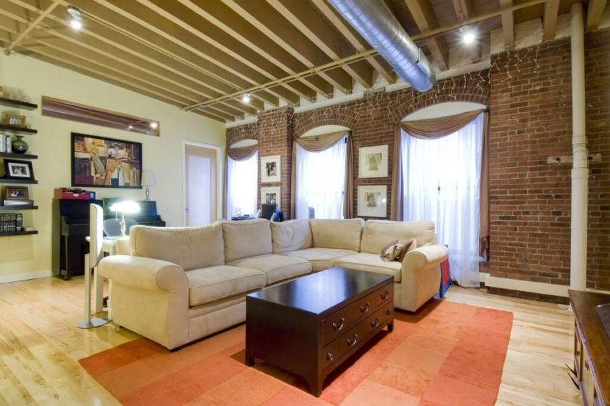 Here Is An Room With An Exposed Beam Ceiling. An Exposed Beam Look Works  Very Part 39
