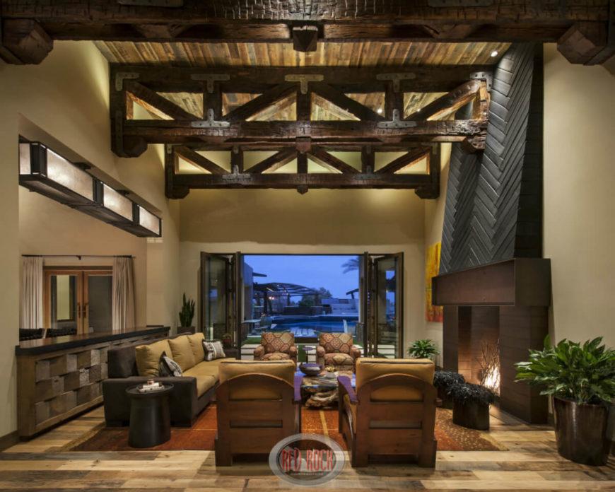Fantastic Living Room Ceiling Ideas - Beam ceiling design ideas