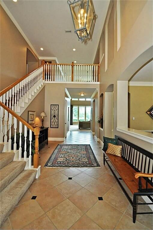 Handrail Ideas on Interior House Design Floor Plans