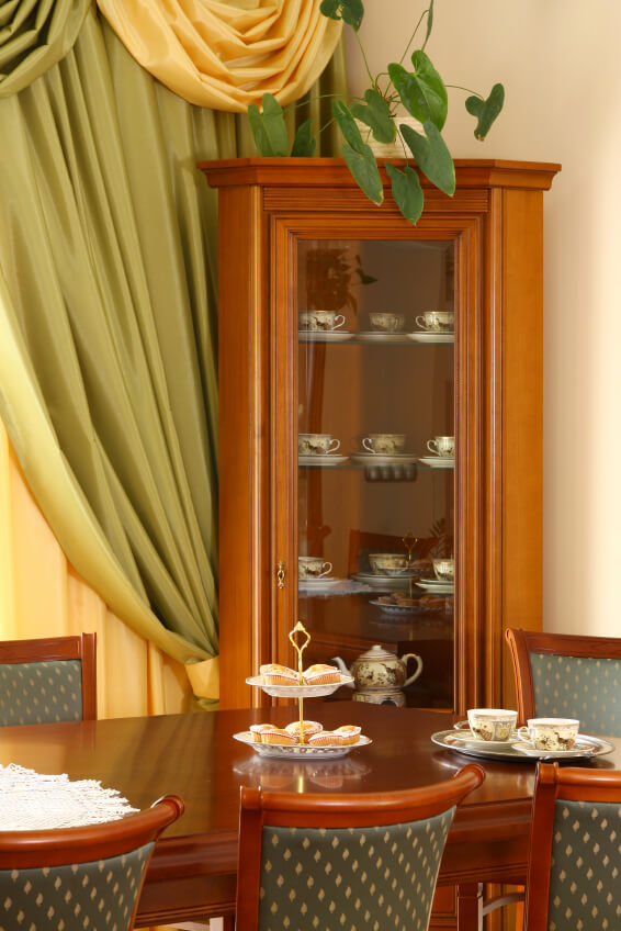 how to make a corner curio cabinet