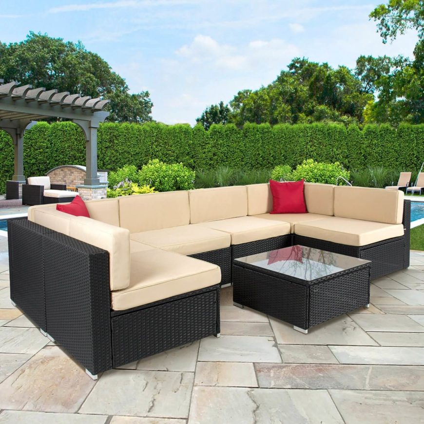 72 comfy backyard furniture ideas for Outdoor patio couch set