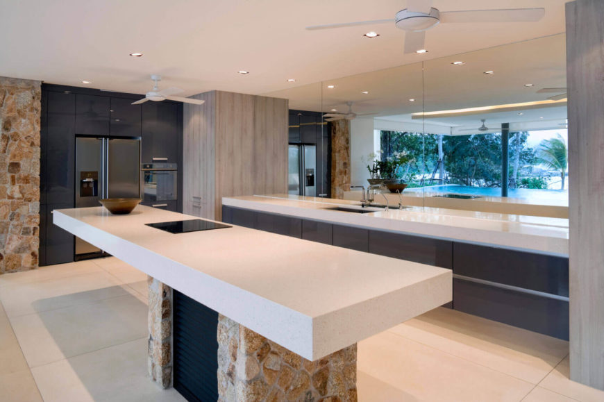There Is A Perfect Blend Of Natural Surfaces And Fabricated Materials In  This Modern And Sleek Part 45