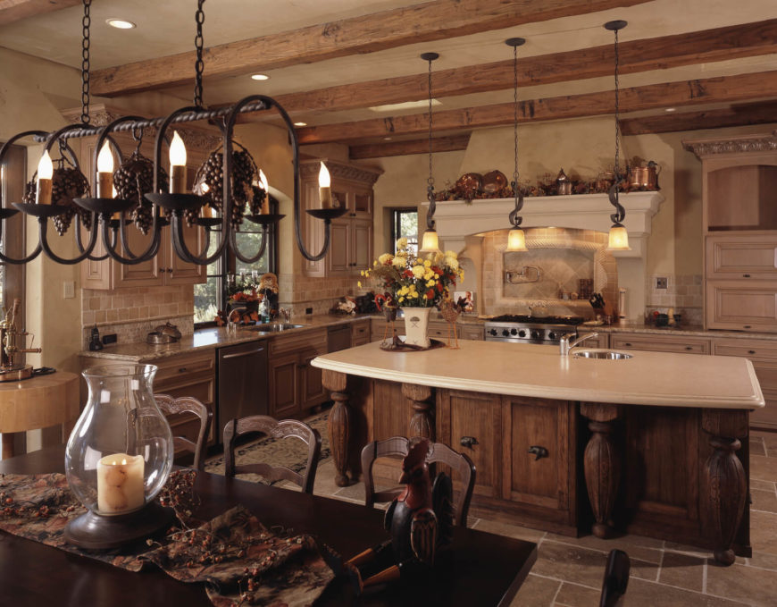 Interesting Country Kitchens kitchen modern country kitchens inside kitchen country design interesting country kitchens This Mediterranean Kitchen Has A Number Of Detailed And Interesting Lighting Fixtures That Are Amazing At
