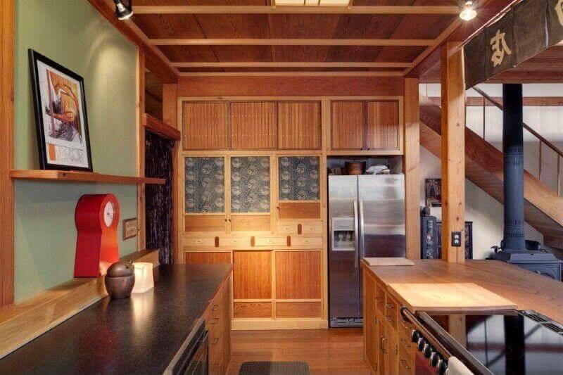 33 sleek asian kitchen ideas for Japanese inspired kitchen design