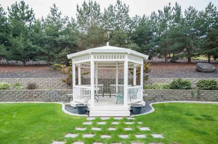 The right gazebo can serve as a centerpiece for your yard. It can set a tone and work as a central point of focus.