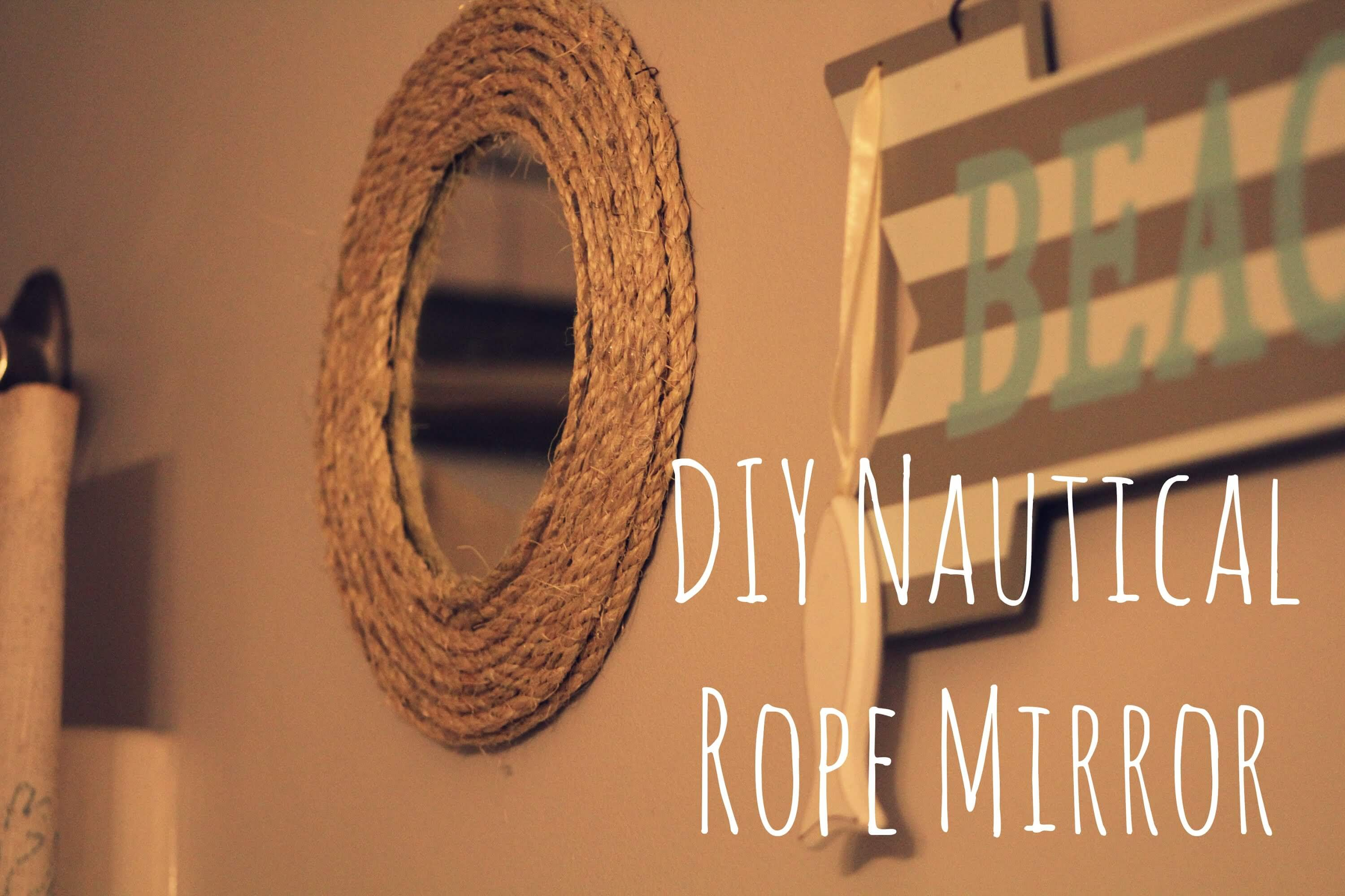 diy decor ideas beach decor nautical rope mirror dezine fun