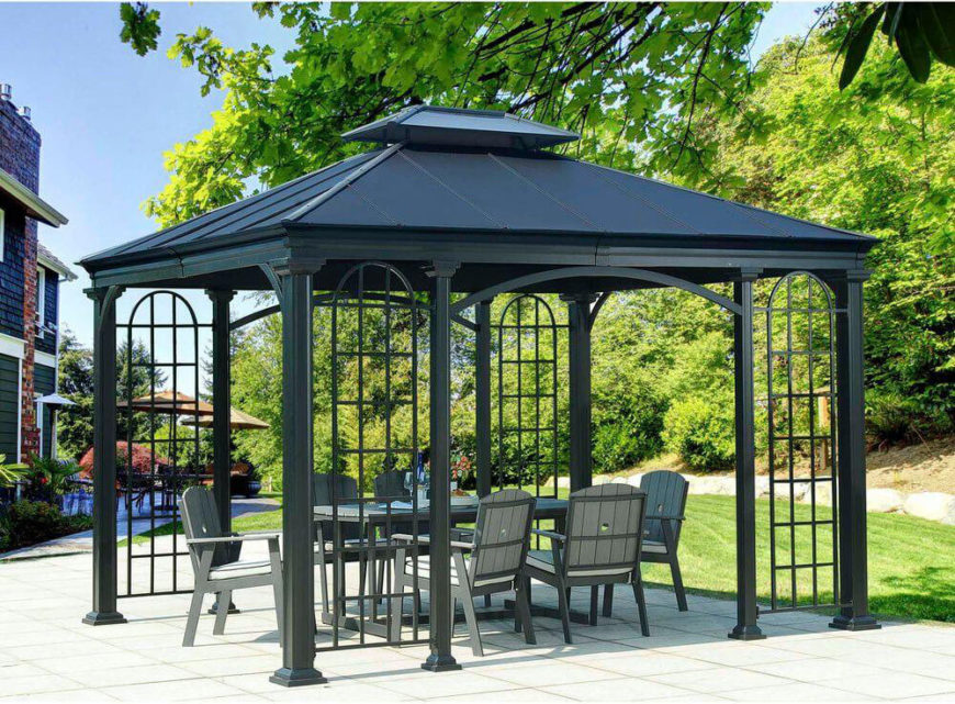 This expansive gazebo can cover a nice portion of your patio or yard, giving you a fantastic space to stage parties and gatherings. Keep yourself and your guest in the shade in style.