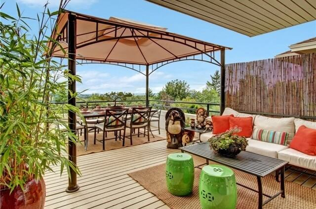 If you are looking for a stylized and modern gazebo this is a gazebo that will serve you well. This minimal and sleek structure will provide shade without much impact on space nor complicate elements.