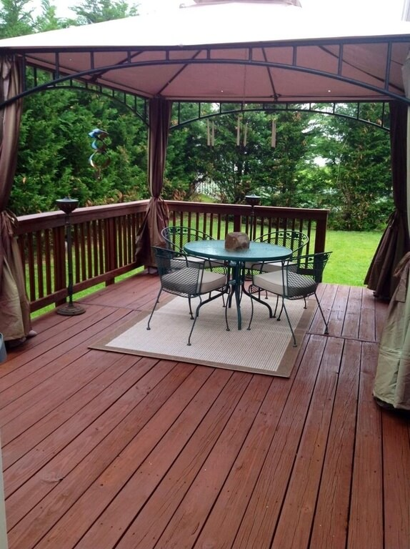 34 square gazebos to give your back yard style for Deck with gazebo