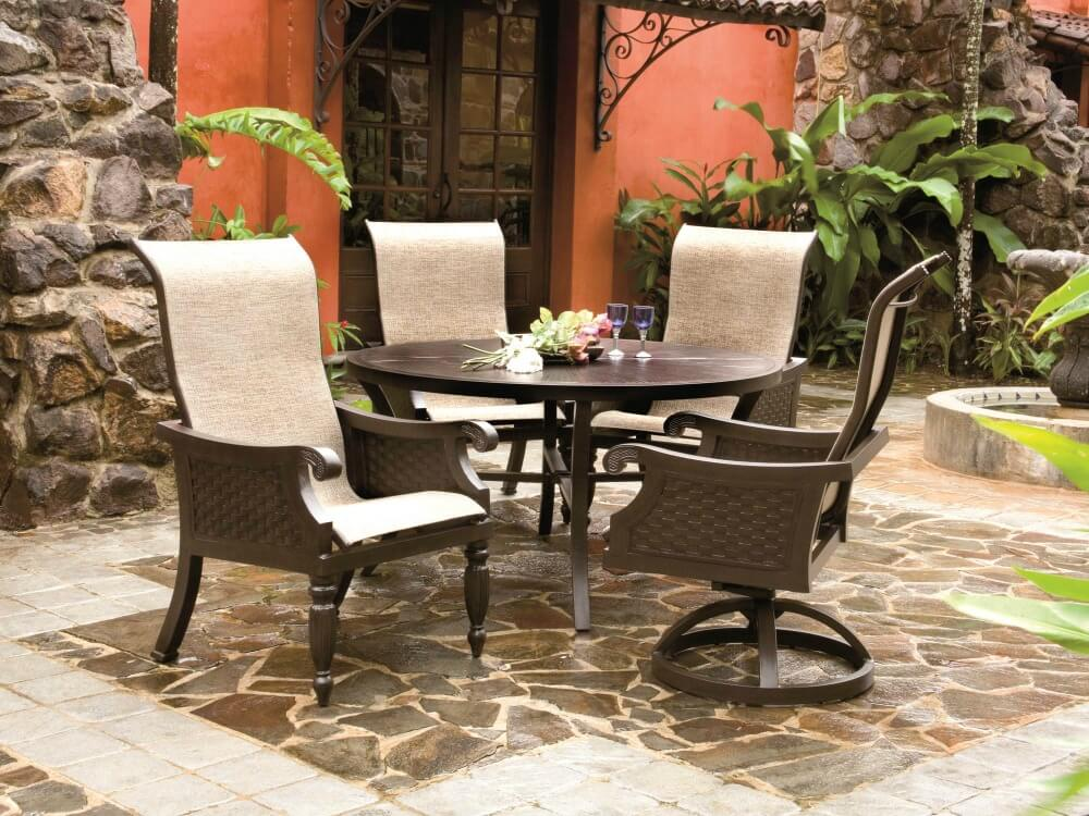 Formal Patio Dining Chairs And Round Table