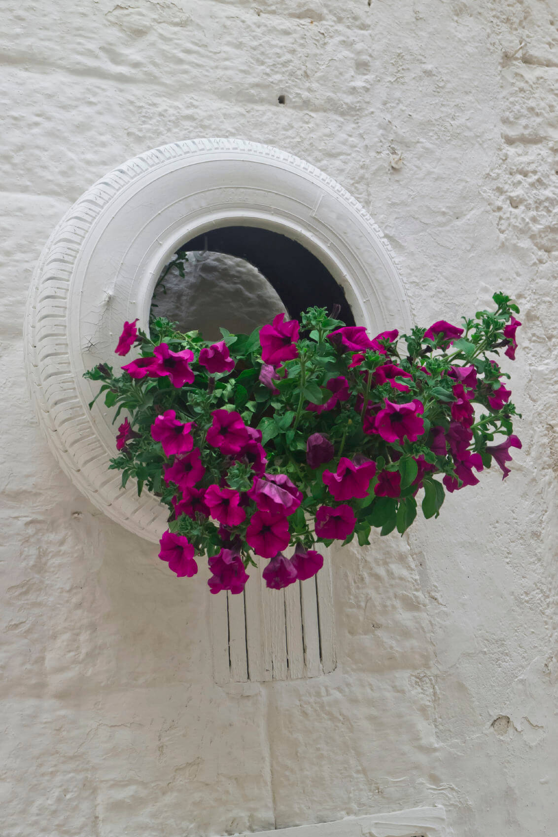 29 flower tire planter ideas for your yard and home - Painted tires for flowers ...