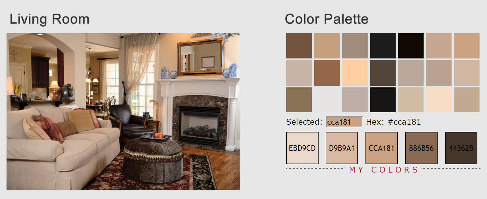 Living room color palette generator for Living room colors photos