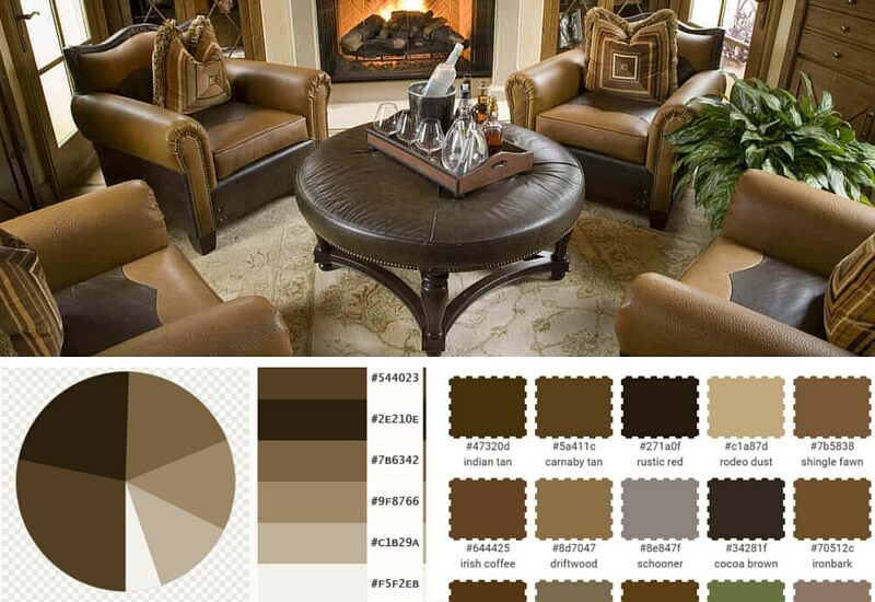 Masculine Living Room In Browns And Tans