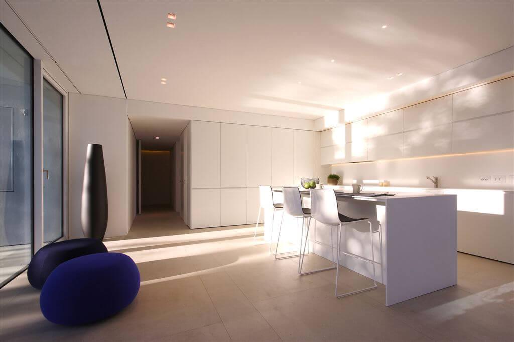 Ultra-Modern Minimalist White Kitchen
