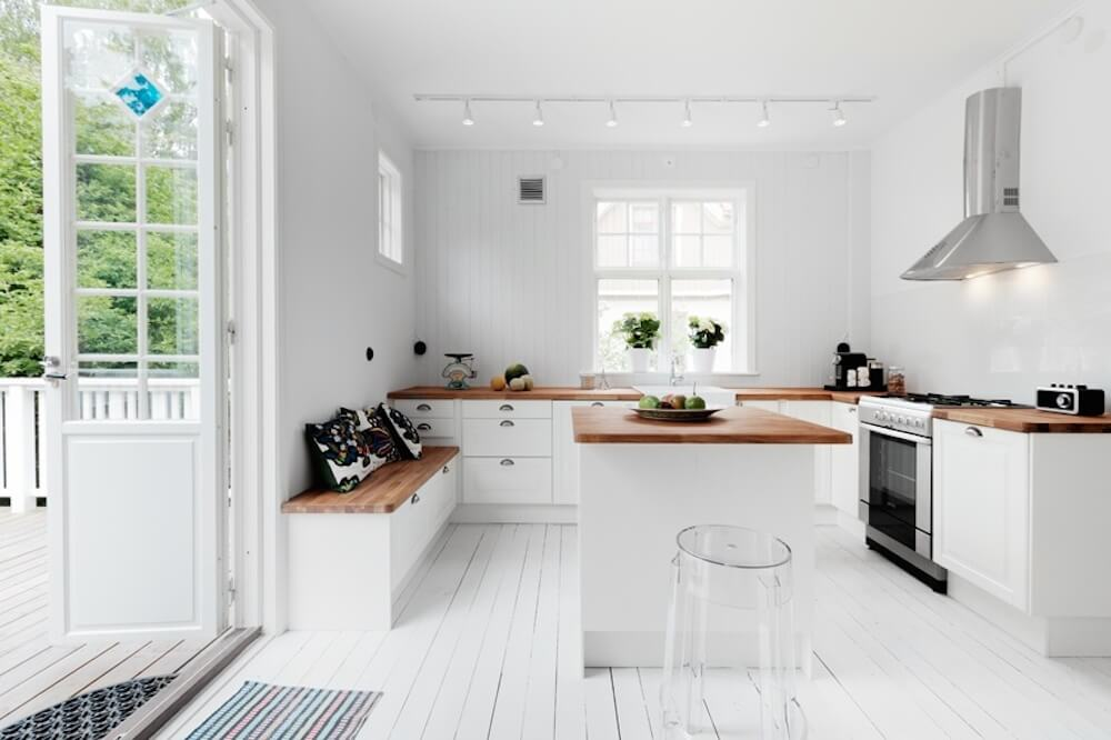 White Country Kitchen With Butcher Block top 38 best white kitchen designs (2016 edition) – graphic world co®