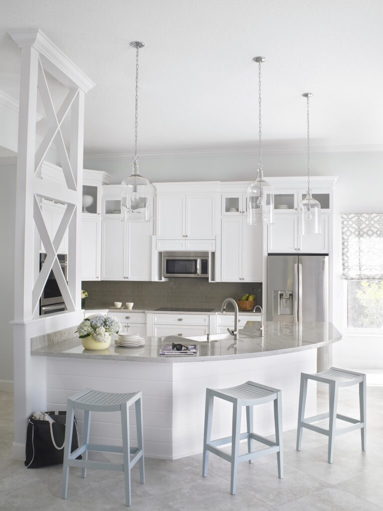 Top 38 best white kitchen designs 2016 edition graphic for Modern white and gray kitchen