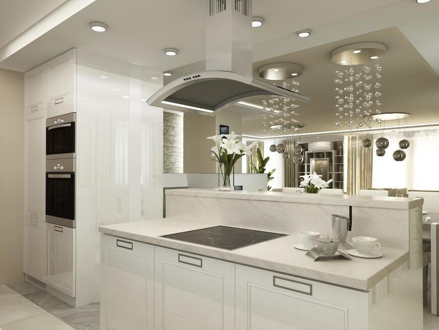 Top 38 best white kitchen designs 2016 edition for Small luxury kitchen designs