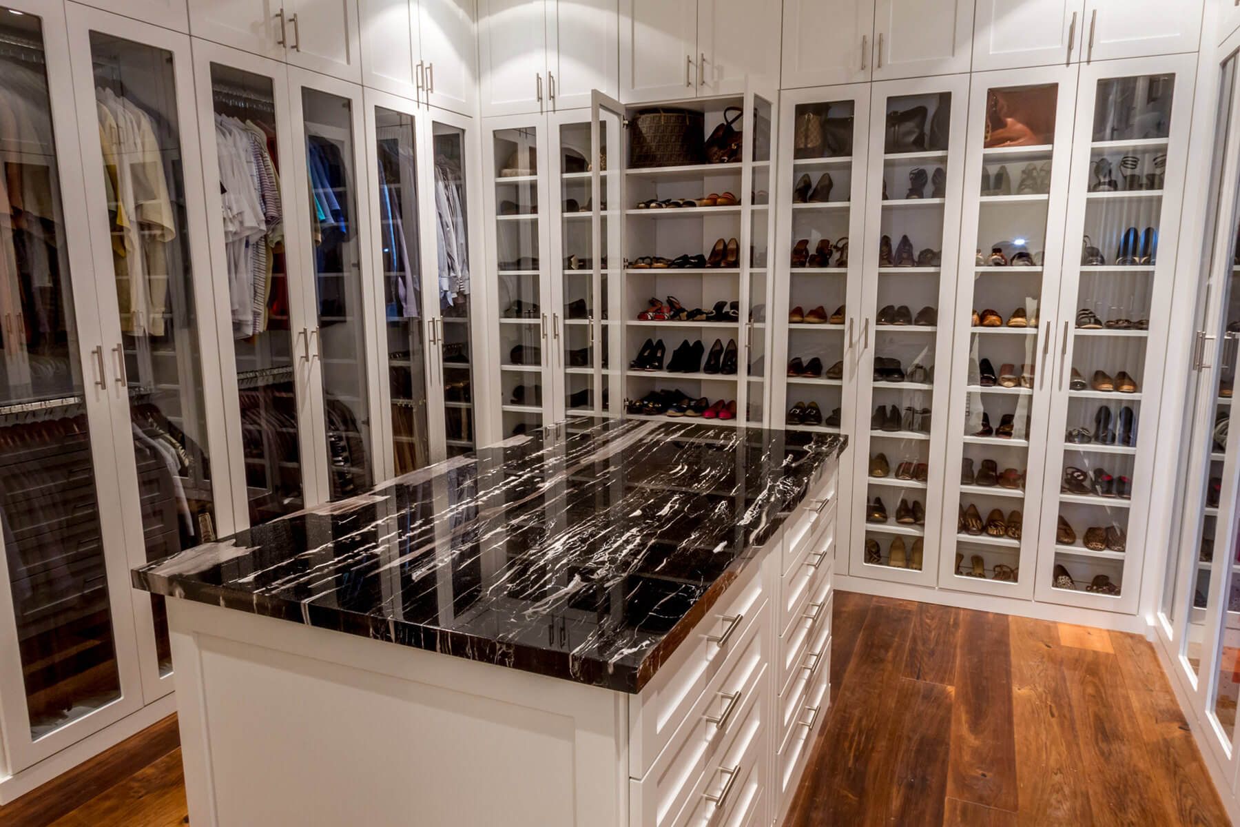 67 reach in and walk in bedroom closet storage systems for Adding a walk in closet