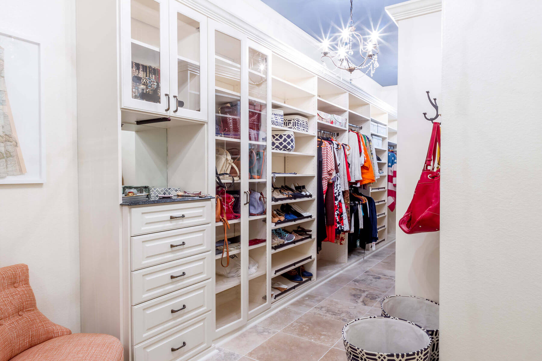 67 reach in and walk in bedroom closet storage systems - Walk in closet paint ideas ...